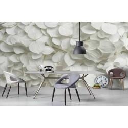 پوستر دیواری سه بعدی طرح گل های بهاری سفید