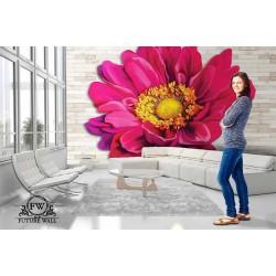 پوستر سهبعدی فیوچروال Future wall طرح گل سرخابی