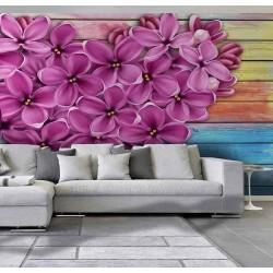 پوستر سهبعدی فیوچروال Future wall طرح گل چهار پَر