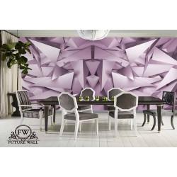 پوستر سهبعدی فیوچروال Future wall طرح مثلث درهم یاسی