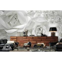 پوستر سهبعدی فیوچروال Future wall طرح گل کاغذی صورتی