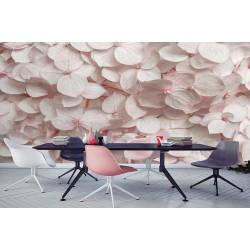 پوستر سه بعدی فیوچروال future wall طرح گل های بهاری صورتی