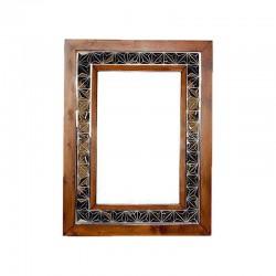 آینه دیواری با حاشیه آینه کاری کد 2555