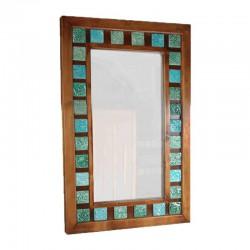 آینه دیواری طرح فیروزهای کد 2329