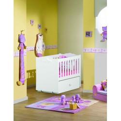 تخت نوزادی بادریس طرح رویا کد B100