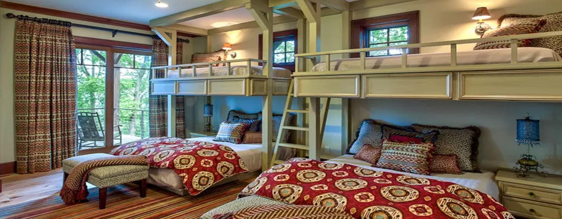 اتاقخواب زیبا در اقامتگاه کوهستانی